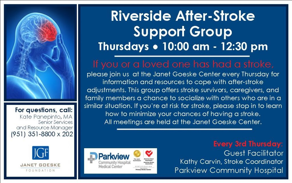 Goeske Stroke Support . Parkview.Half Page Ad 4.7x7.5