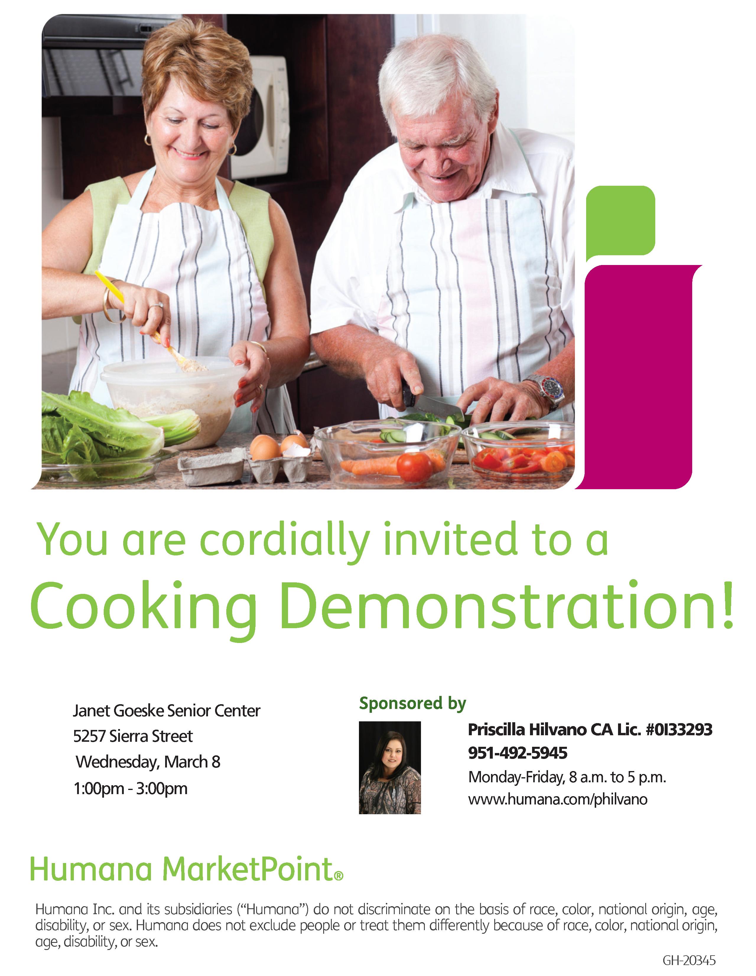 Janet Goeske Center Cooking Demonstration